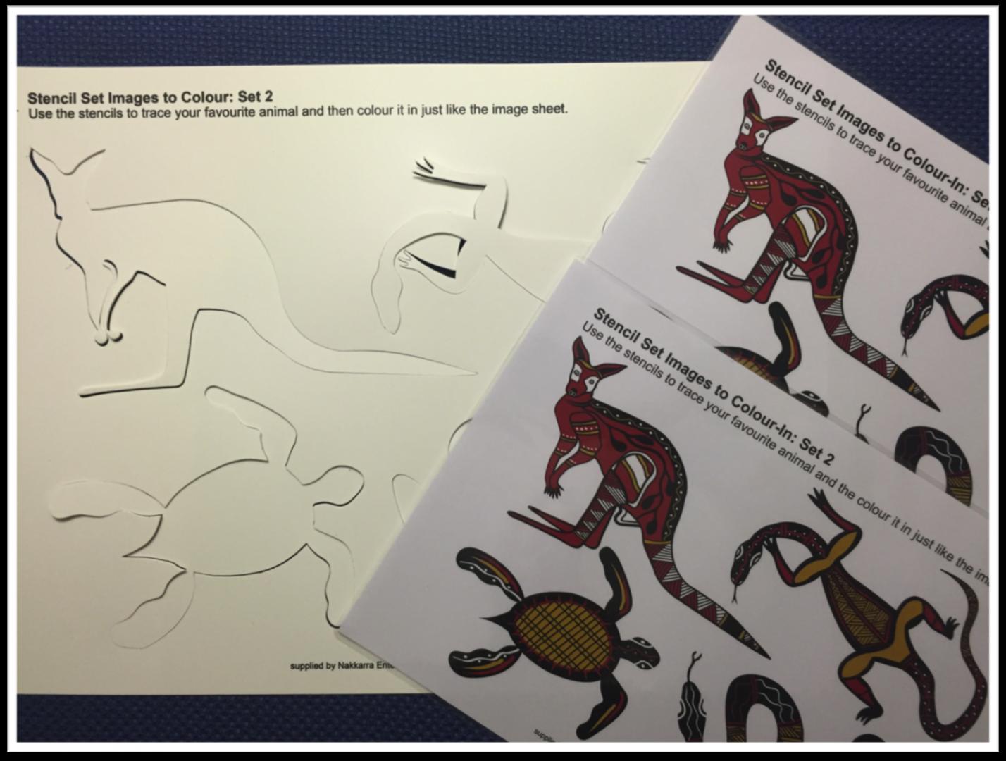 aboriginal stencil pack 2 indigispaceindigispace